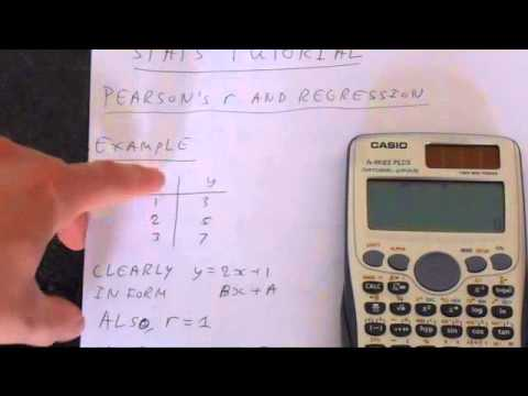 Casio Fx-991ES PLUS Statistics: Standard Deviation. Normal Distribution and Regression