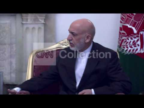 KERRY MEETS WITH KARZAI IN AFGHANISTAN