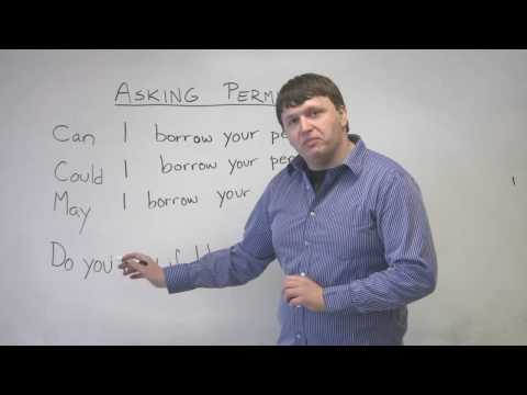 English Speaking – How to Ask Permission – CAN, COULD, MAY, DO YOU MIND