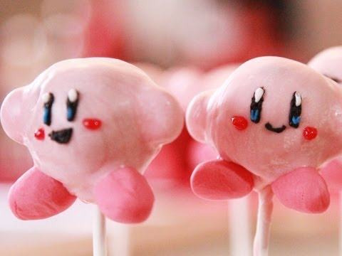 how to make KIRBY CAKE POPS - QnB