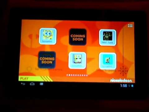 Nabi 2 Kids Tablet Video Review - Nickelodeon Edition Content Overview