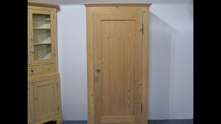 Single Door Antique Wardrobe (child's) - Pinefinders Old Pine Furniture Warehouse