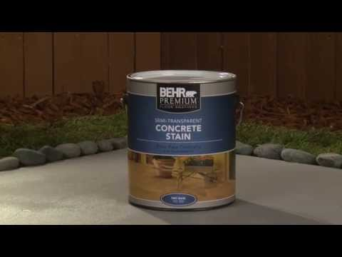 How-to Apply Behr Premium Semi-Transparent Concrete Stain