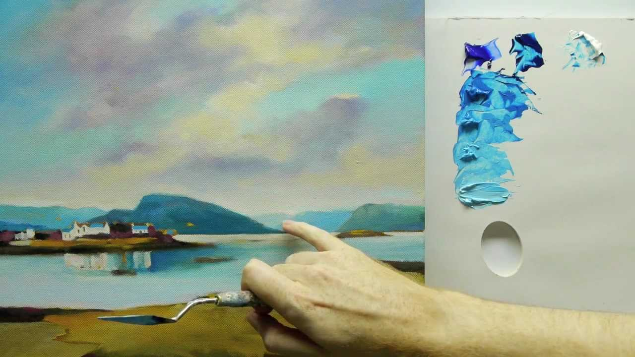 How to paint landscapes colour mixing acrylics using for How to acrylic paint