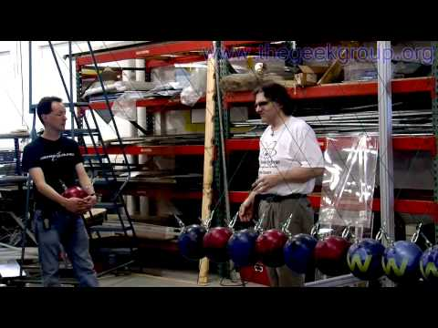 The Geek Group's World's Largest Newton's Cradle