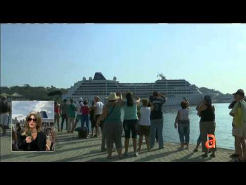 El Happy Hour News: llegada del crucero a La Habana