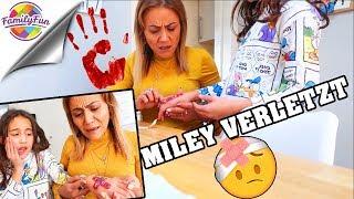 MILEY VERLETZT 🤕 MAMA GESCHOCKT muss VERBAND wechseln - Family Fun