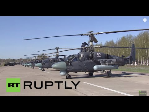 Russia: Watch the Russian Air Force prepare for Moscow's Victory Day parade