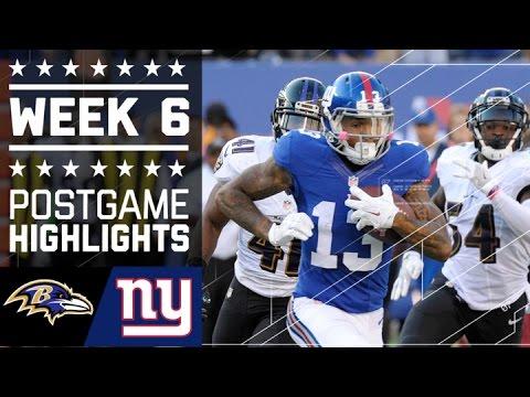 Ravens Vs Giants Nfl Week 6 Game Highlights