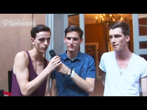 Backstage at Burberry with Handsome Male Models   Milan Men's Fashion Week Spring 2013   FashionTV