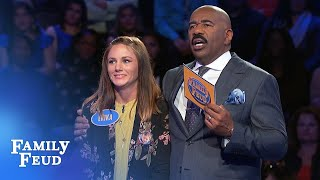 $60,000 next for the Gaines family? | Family Feud