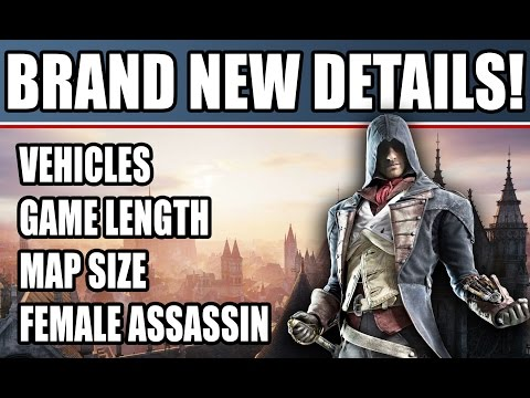 Assassin's Creed Unity New Gameplay Details Free Roam Side Missions! Length! Female Assassin!