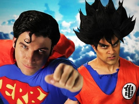 Goku Vs Superman.  Epic Rap Battles Of History Season 3. video