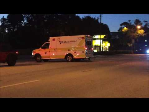 RURAL METRO EMS UNIT TAKING UP ON S. ORANGE AVENUE IN SOUTH DIVISION AREA OF ORLANDO IN FLORIDA.