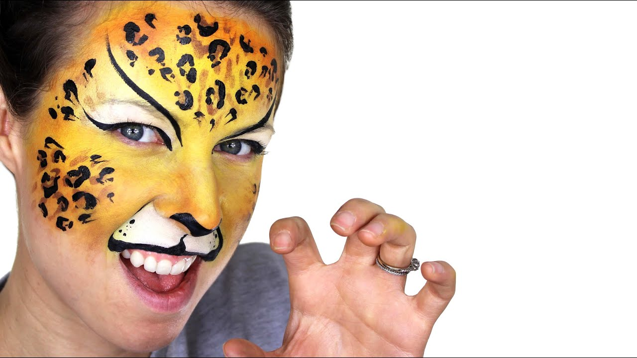 Leopard Face Painting Tutorial YouTube