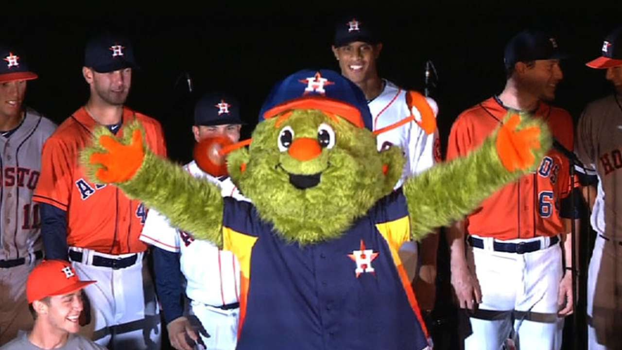 Houston Astros unveil their new mascot Orbit