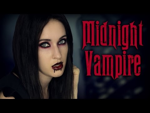Halloween makeup tutorial: Sexy Vampire, Mortitia Addams, Glam Goth