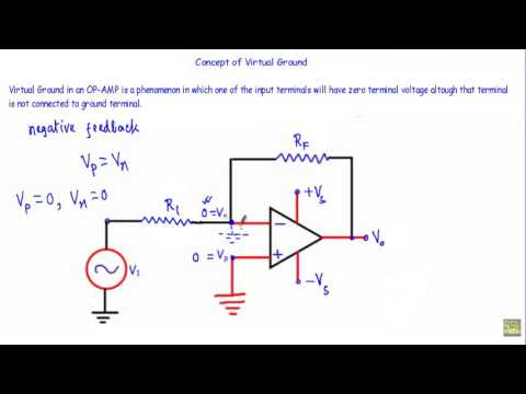Concept of Virtual Ground in OP-AMP ( w subtitles)