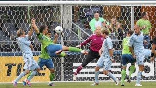 Great Goal! Flying Volley from Patrick Ianni of the Seattle Sounders