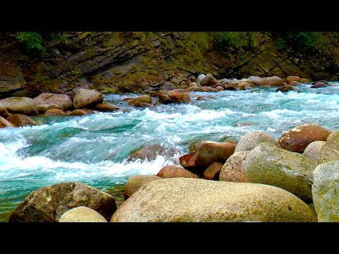 Relaxing Nature Sounds Mountain River | Sleep, Study, Focus, Soothe a Baby | White Noise Stream