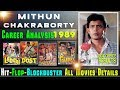 Mithun Chakraborty Box Office Collection Analysis 1989 | Hit and Flop Blockbuster Movies List.