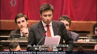 "Marò: Intervento del ""cittadino"" On. DI BATTISTA (M5S) in Parlamento."