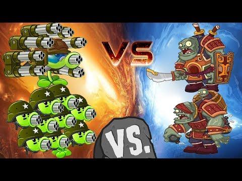 Plants vs Zombies 2 Chinese Version Gatling Pea vs Kung Fu Zombot
