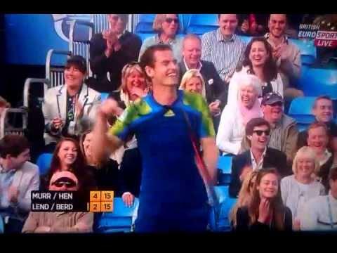 Andy Murray hits Ivan Lendl - Charity Event June 2013