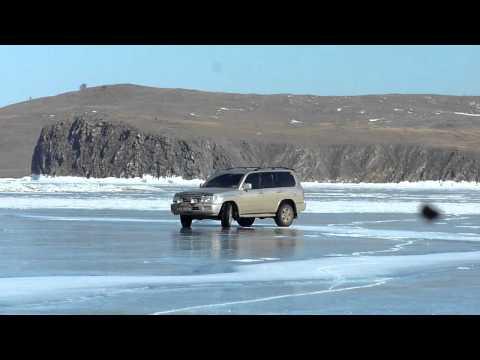 дрифт на льду Байкала, Toyota Land Cruiser, март 2011