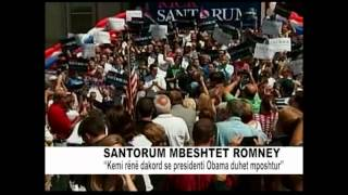 SANTORUM MBESHTET OBAMEN ABC NEWS AL 8 MAJ