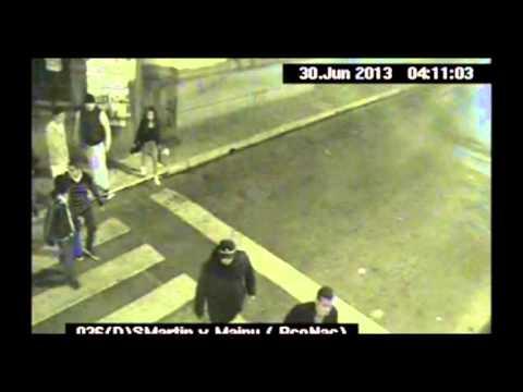 Nuevamente las cámaras de Seguridad filman una violenta pelea a la salida de un boliche