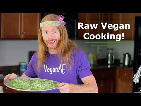 Raw Vegan Cooking - Cucumber Pizza - Ultra Spiritual Life episode 72