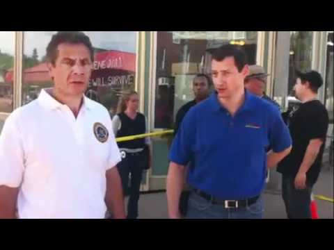 New York Governor Cuomo visits Margaretville Storm Damage