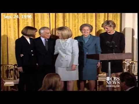1996  Princess Diana joins Hillary Clinton at White House