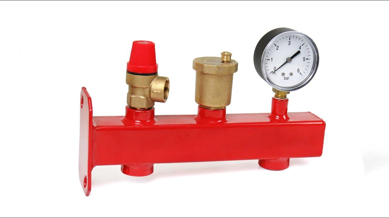Установка предохранительного клапана на отопление схема