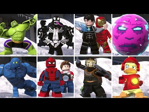 All Character Transformations in LEGO Marvel Super Heroes 2 (W/ All DLC)