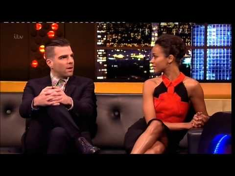 "#1 ""Zachary Quinto"" & ""Zoe Saldana"" On The Jonathan Ross Show 4 Ep 18 4 May 2013 Part 1/4"
