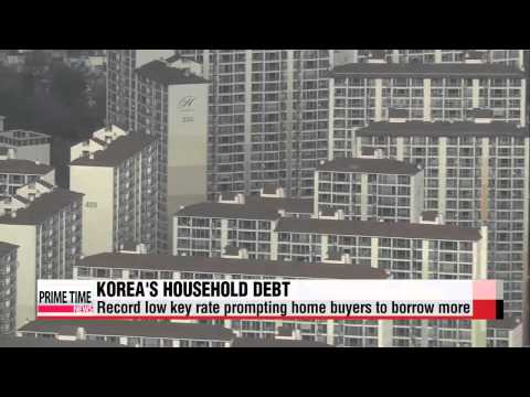 Koreans borrowing more, with most loans for housing purchases   가계대출 증가액 9년만에 최대