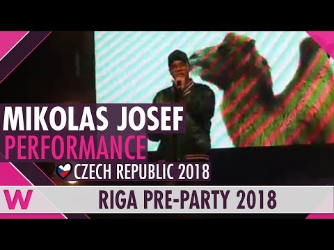 "Mikolas Josef ""Lie to Me"" (Czech Republic 2018) LIVE @ Eurovision Pre-Party Riga 2018"
