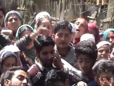 People mourn Handwara Kashmir killings