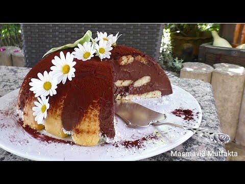15 dakikada Şahane Görsel-Nefis Lezzet -Çikolatalı KÜMBET PASTA -Hafif Yaz pastasi▪Masmavi3mutfakta