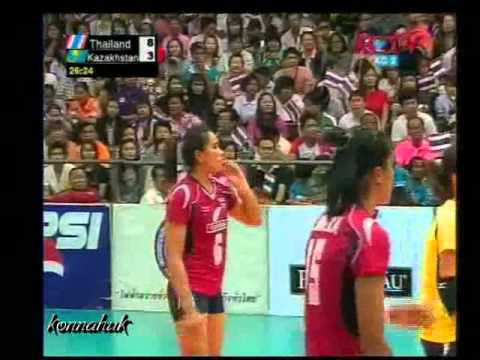 Thailand Vs Kazakhstan' Final '2010 Prinsess Cup-Women's Volleyball ' Part 3