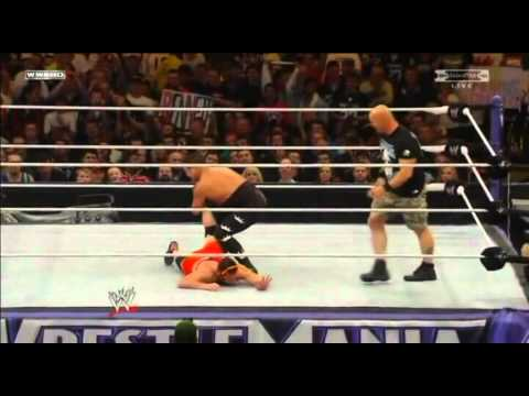 Wrestlemania 27 Highlights - Jerry the King Lawler Vs Michael Cole Steve Austin Guest Referee video