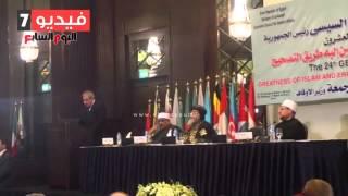 """بالفيديو.. محلب:""""مصر تتعرض لهجمة شرسة ونحتاج إلى التكاتف لإعادة أمجادها"""""""