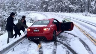 WINTER CAR crash - Snow FAILS compilation ❄