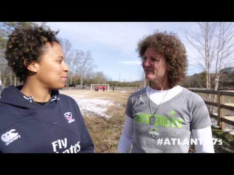 USA Eagles meet Michelle Akers - Atlanta7s