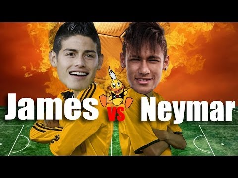 NEYMAR VS. JAMES RODRIGUEZ (subt - English - português )