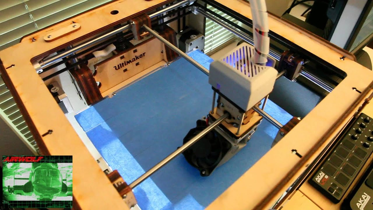 Playing Airwolf Theme Song On Ultimaker 3d Printer Stepper