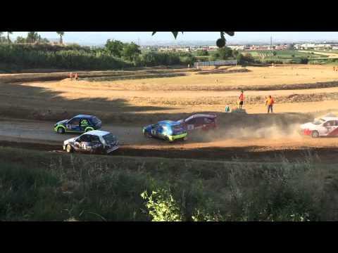 (HD) Campeonato de España y Catalunya de autocross 2015 mollerusa + crash