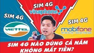 Mua SIM 4G nào dùng 1 năm không mất tiền & nhanh nhất !